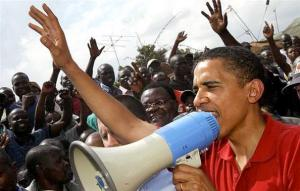 אובמה בהפגנה
