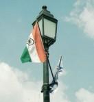 דגלים של הודו וישראל בדלהי