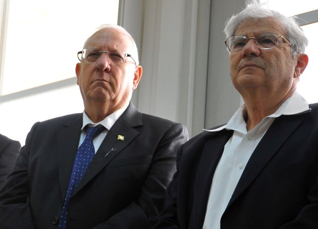 הנשיא ריבלין ואהרן ברק צילום יואב ארי דודקביץ