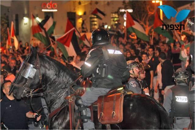 התפרעויות ערבים בחיפה. ארכיון (שי וקנין – סוכנות תצפית)