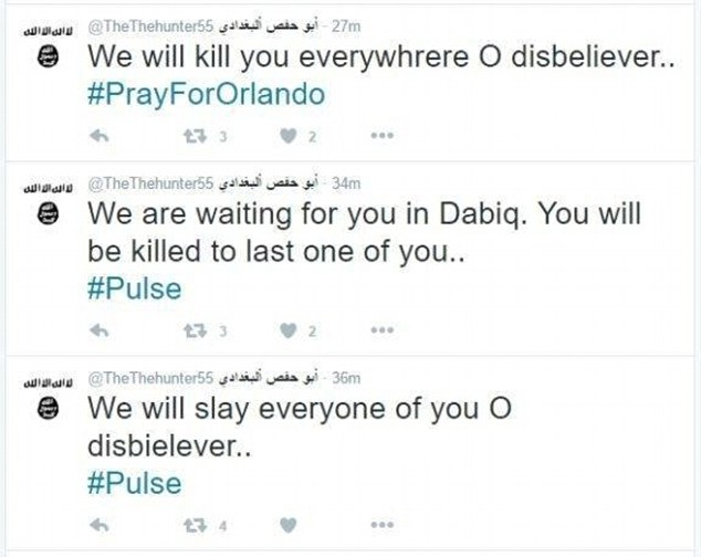 חסידי דאעש העוקבים בטוויטר